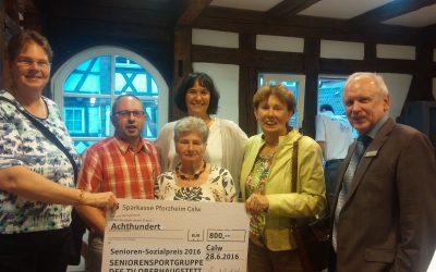Verleihung des Senioren-Sozialpreis 2016